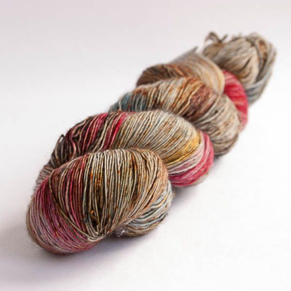 Delicate Merino from WalkCollection in colourway Cosmic Chaos, one skein is perfect for knitting a shawl