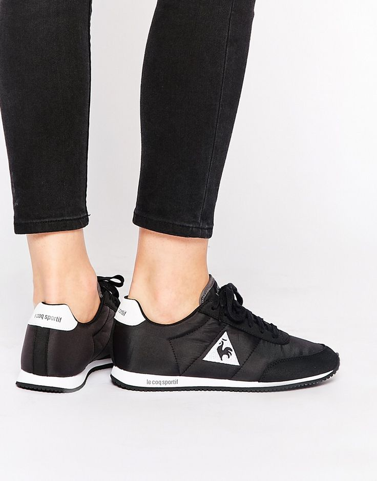 LE COQ SPORTIF | Racerone Black Classic Leather Trainers | #black #leather #women #trainers #sneakers
