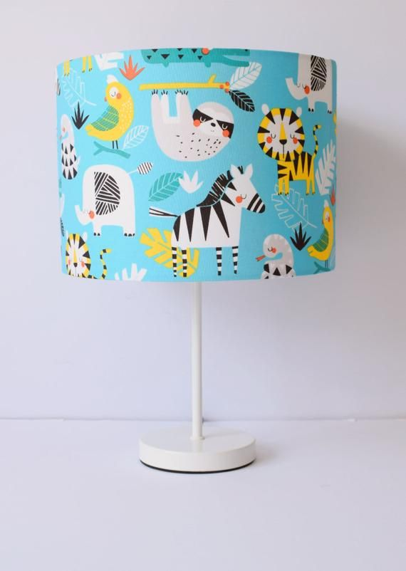 Jungle Lampshade Rainforest Decor For Baby Room Blue