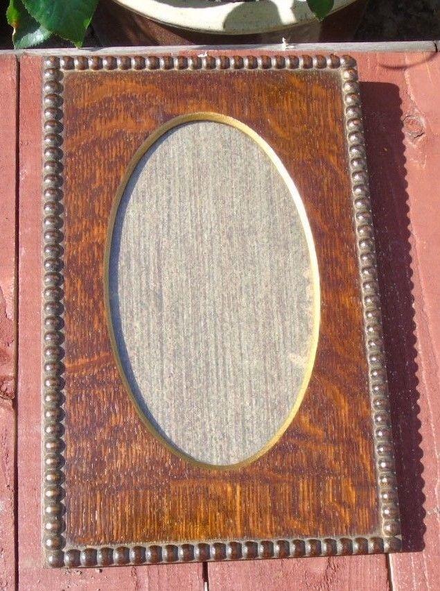 Vintage Edwardian Dark Wood Vintage Photo Frame With Decorative