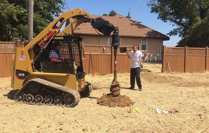 Preparing for the ground mount Solar panels ( HVAC Solano Napa Fairfield Benicia Vallejo Suisun Vacaville California )