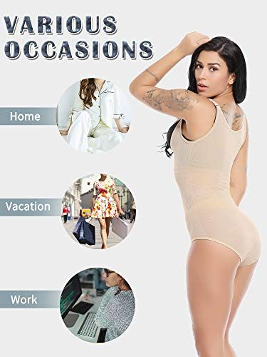 da644776d60b MISS MOLY Women's Shapewear Seamless Firm Tummy Control Slimming Open Bust Waist  Shaper,#Seamless
