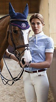 """HIGH FASHION AND SHOWJUMPING: """"The granddaughter of Princess Grace of Monaco, (a.k.a. the late US actress Grace Kelly)  Charlotte Casiraghi, has been named the new face of Gucci. The 25-year-old equestrian already has a close connection with the luxury label as she wore exclusively designed riding gear by Gucci for two years in competitions, including the 2011 Global Champions tour."""""""