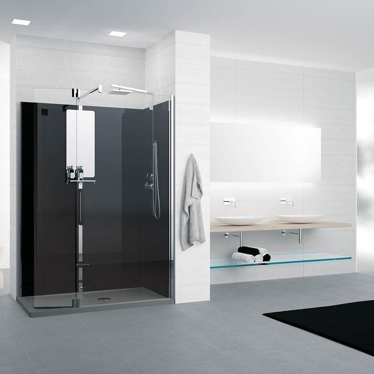 Enn å ta kveldsvasken her Novellini Revolution lar deg bytte ut det gamle slitte badekaret på en enkel & funksjonell måte. Dusjkabinettet kan blant annet kombineres med et matchende skap som skjuler vaskemaskinen på en flatterende måte. #rørkjøp