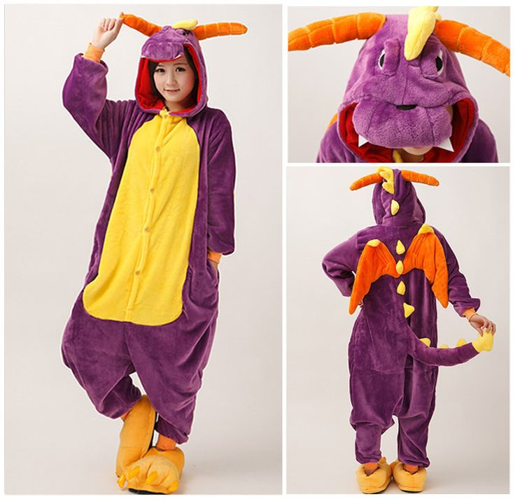 Find More Pajama Sets Information about Purple Dragon Unisex Adults Flannel Hooded Pajamas Cosplay Cartoon Animal Onesies Sleepwear Suit Nightclothes,High Quality suit doll,China suit jacket Suppliers, Cheap suit office from wotwu on Aliexpress.com