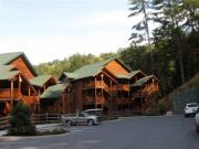 Accommodations stretch along the rolling mountainside.
