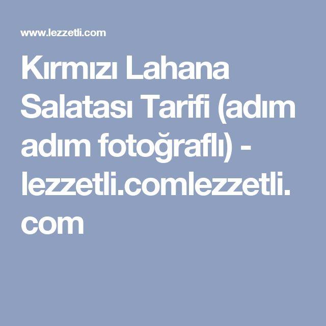 Kırmızı Lahana Salatası Tarifi (adım adım fotoğraflı) - lezzetli.comlezzetli.com