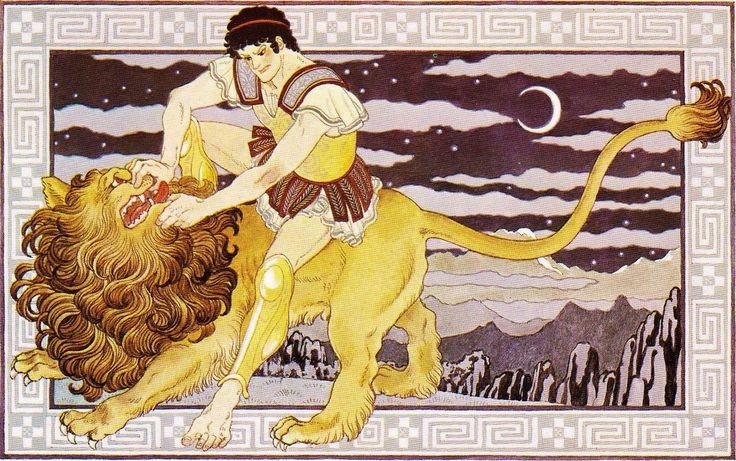 horoscope:Leo   illustration:Yoshimi Uchida   内田善美 「愛のギリシャ神話」より:しし座