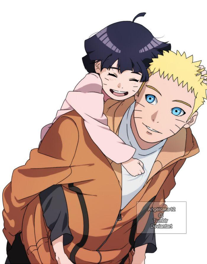 Himawari and Naruto <3