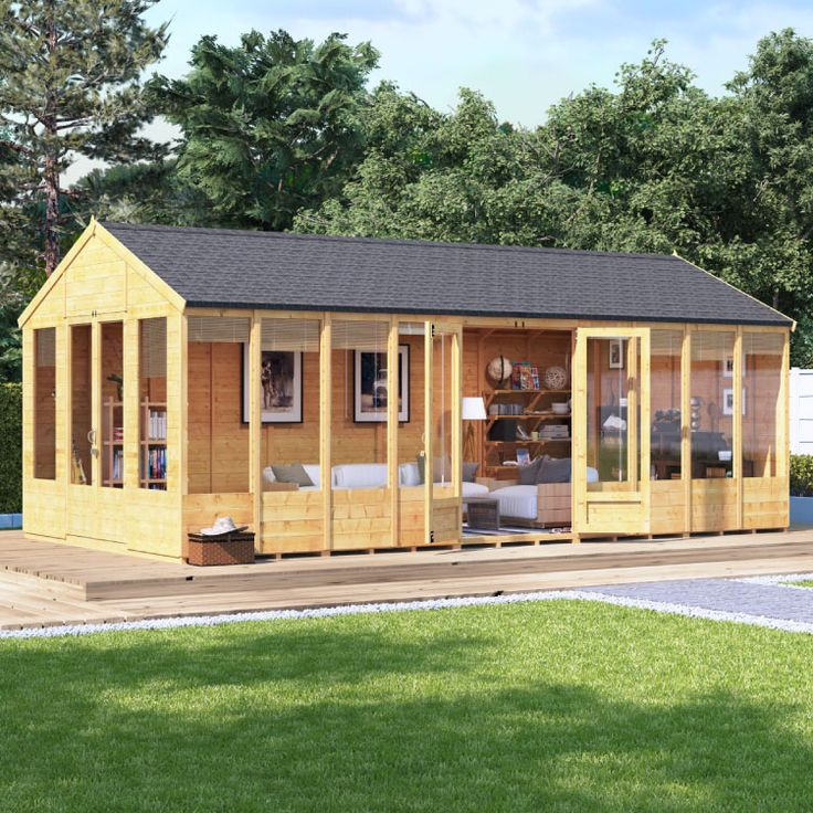 Buy a BillyOh Tessa Tongue and Groove Reverse Apex Summerhouse from Garden Buildings Direct