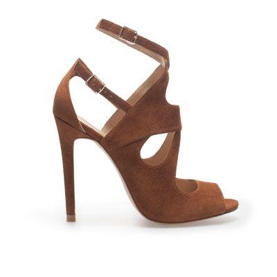SANDALE À TALON MULTI-LANIÈRES - Chaussures - Femme - ZARA France