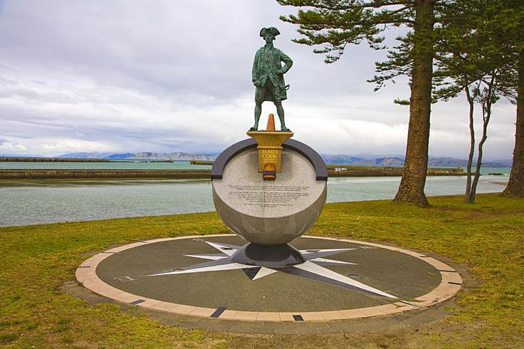 Captain Cook, his statue in Gisborne, see more at New Zealand Journeys app for iPad www.gopix.co.nz