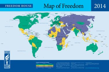 Freedom in the World 2014 http://freedomhouse.org/report/freedom-world/freedom-world-2014#.Uu5uZCGwWqo; The state of freedom declined for the eighth consecutive year in 2013, according to the latest edition of Freedom House's annual survey.