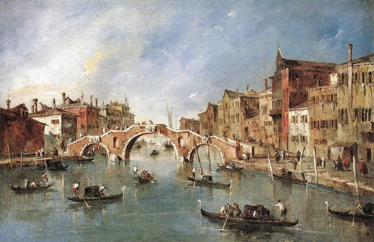 The Three Arched Bridge at Cannaregio,   1765-1770			Francesco Guardi -