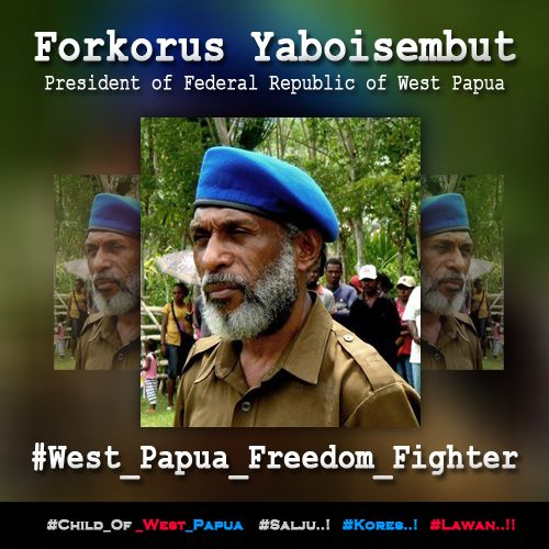 FORKORUS YABOISEMBUT. PRESIDENT OF FEDERAL REPUBLIK OF WEST PAPUA. http://bit.ly/1EQTGzC ‪#‎West_Papua_Freedom_Fighter‬ ‪#‎Free_West_Papua‬ ‪#‎Salju‬ ‪#‎Kores‬ ‪#‎Lawan‬