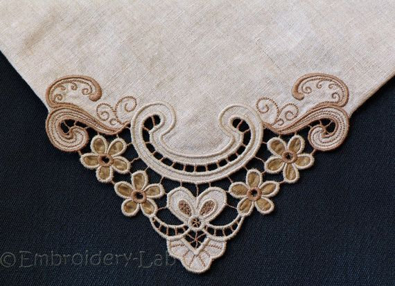 Corner Cutwork 0003   digital design for by EmbroideryLabDesigns