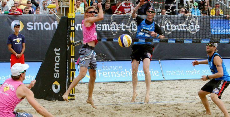 Olympiasieger nur auf Platz vier - Beachvolleyball - Vom 24. bis 26. August 2012 kämpften insgesamt 16 Frauen- und 16 Männerteams in der Ahmann-Hager Arena um den Titel.