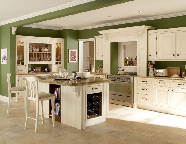 Kitchens With White Cabinets And Green Walls white kitchen cabinets green walls