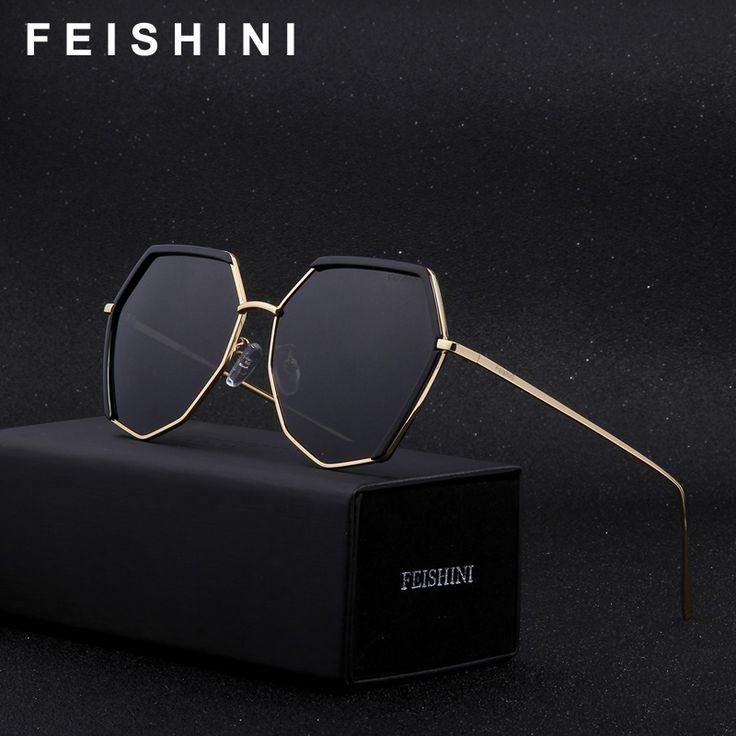 FEISHINI Brand Irregular Frame SILVER Hexagon Sunglasses Polarized Men Fashion Anti-Reflective Driving Glasses Women With Box. Yesterday's price: US $39.00 (32.18 EUR). Today's price: US $14.04 (11.57 EUR). Discount: 64%.