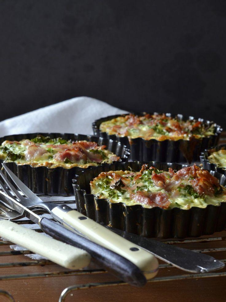 Skøn grønkålstærte på bund af kylling - LCHF, lowcarb, lavkarbo, paleo, glutenfri, mejerifri