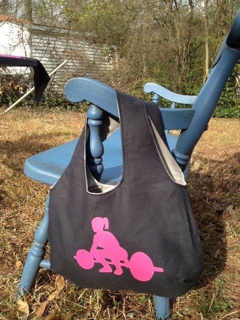 Small Crossfit Women Gym Tote Bag by SparePatchProducts on Etsy, $30.00
