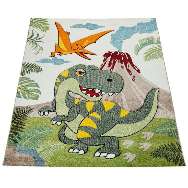 KurzflorKinderteppich Dinosaurier Grün in 2020 Teppich