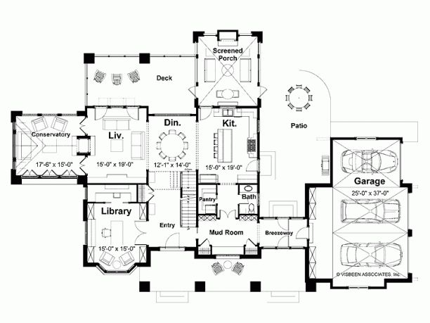 Classical style house plan 3 beds 2 5 baths 3524 sq ft - Design a room floor plan ...