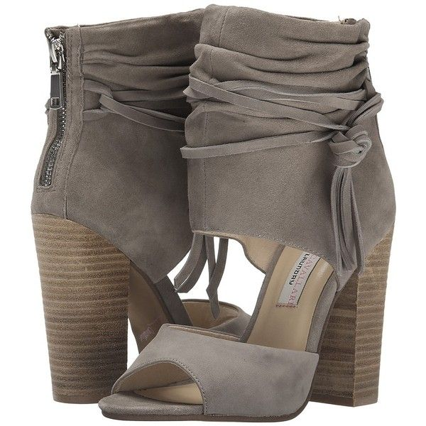 Chinese Laundry Kristin Cavallari - Leigh-2 Two Piece Sandal High... ($149) ❤ liked on Polyvore featuring shoes, sandals, high heel sandals, slip on sandals, synthetic shoes, stacked heel sandals and stacked heel shoes
