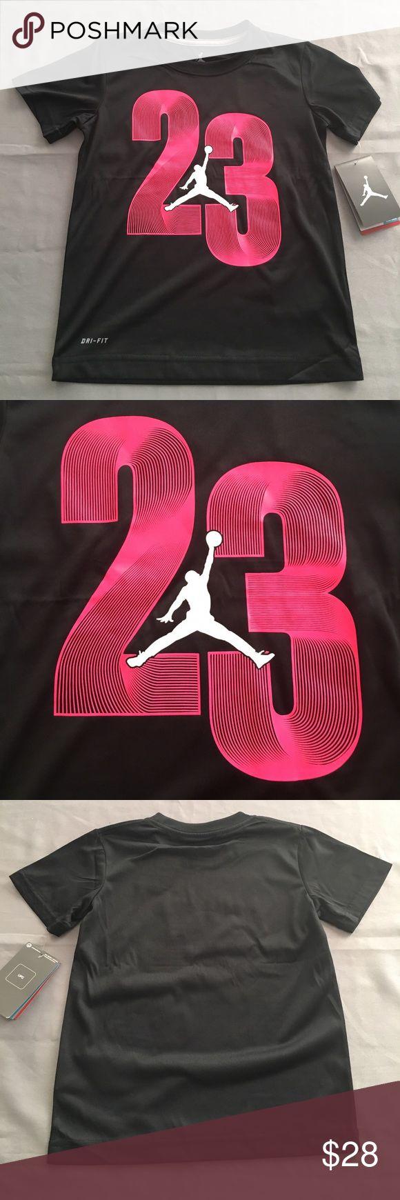 NWT Nike Michael Jordan Dri-Fit T Shirt NWT Nike Michael Jordan Dri-Fit T Shirt. Black, pink and white. Nike Shirts & Tops Tees - Short Sleeve