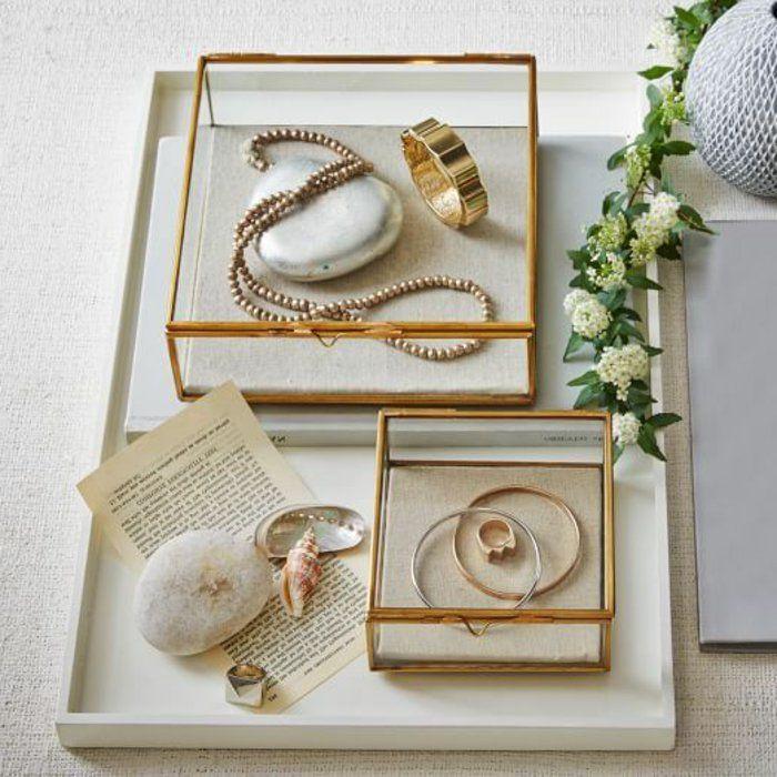 coffret à bijoux, boîtes transparentes