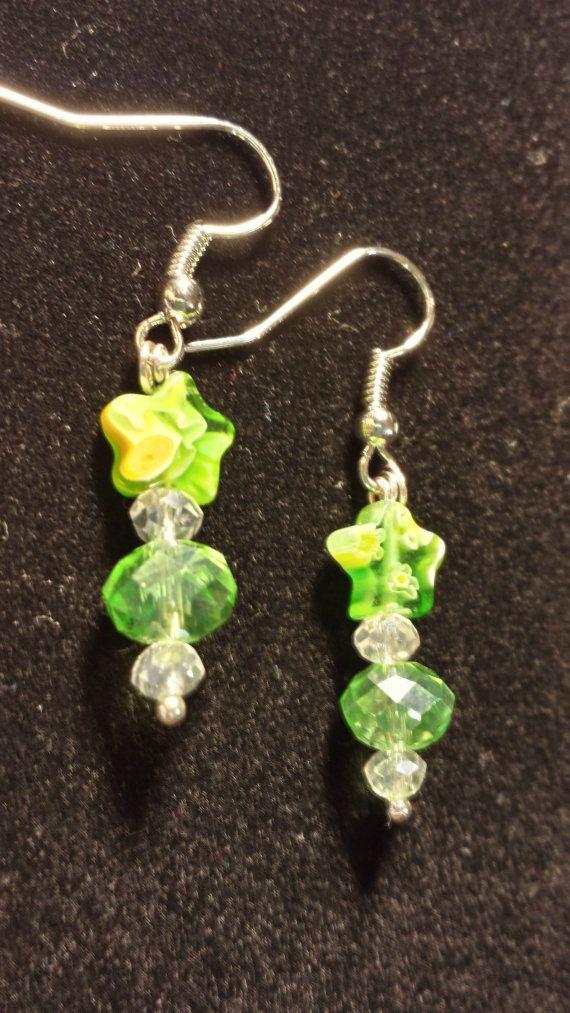 Light weight. Green Shooting Star earrings. by B4Jjewelrydesigns, $4.90