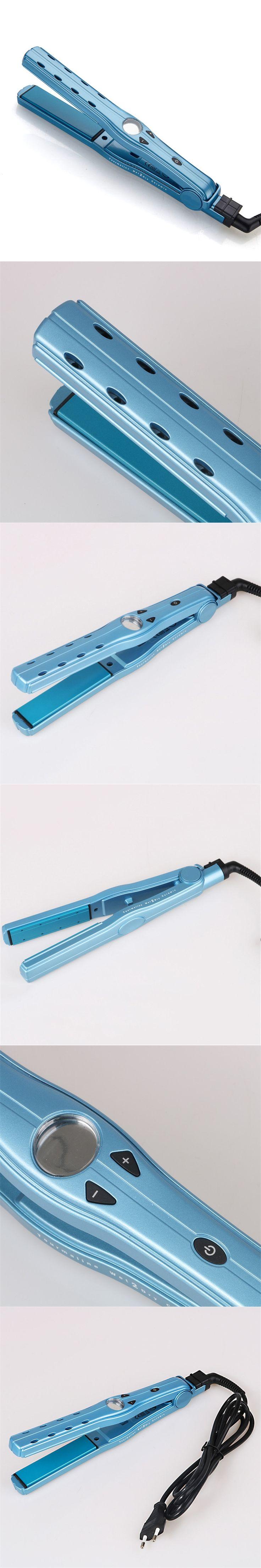 Health Tools 1Pcs Flat Iron Digital Anti Static Tourmaline Ceramic Hair Straightener With Temp Setting Hair Stylings