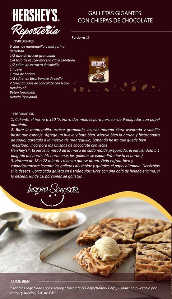 Una deliciosa receta preparada con nuestras Chispas de chocolate con leche…