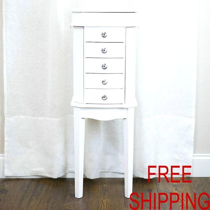 Jewelry Armoire Cabinet Storage Organizer Classic Style Elegance Wood Furniture #HivesandHoney
