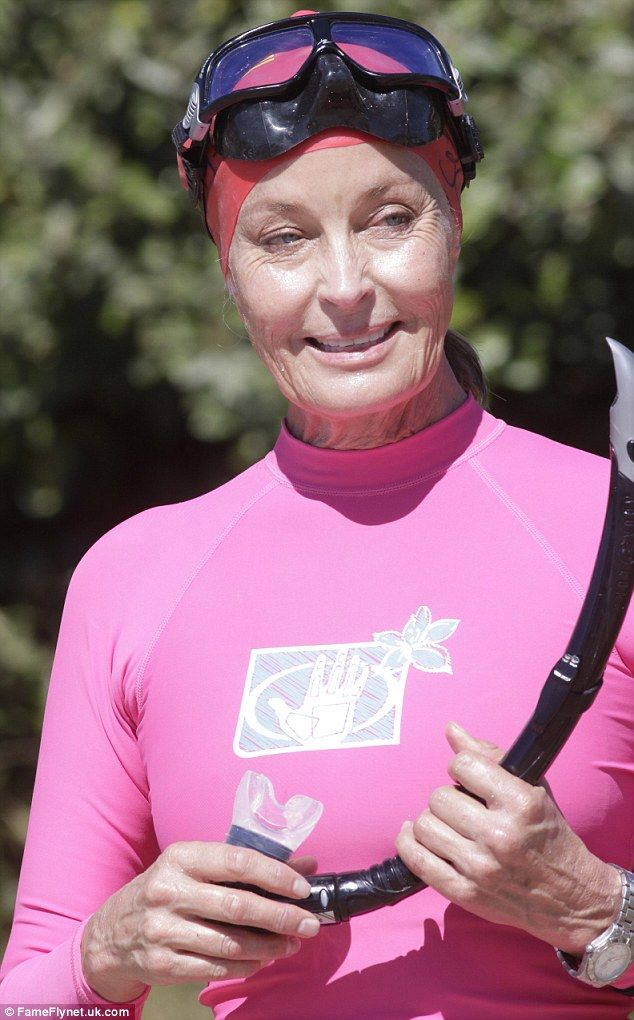 Still got it! Bo Derek showed off her killer body as she took part in a 3000 metre swimming marathon in Greece