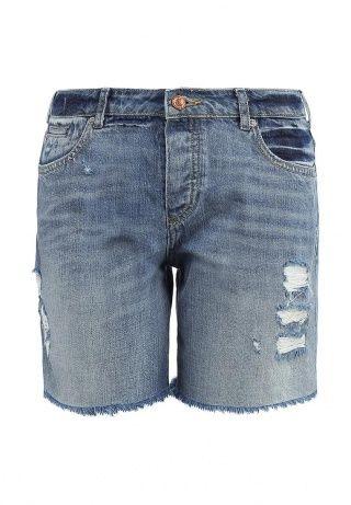 Джинсовые шорты от Maison Scotch выполнены из качественного хлопкового денима голубого цвета. Модель прямого силуэта с заниженной линией талии. Детали: декоративные потертости, необработанный нижний край, застежка-молния и пуговица, три кармана спереди, два накладных кармана сзади. http://j.mp/1nYCawV