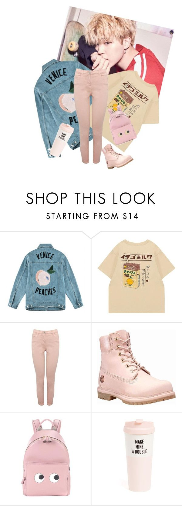 """""""Pink girl"""" by park-ninon on Polyvore featuring mode, Être Cécile, M&Co, Timberland, Anya Hindmarch et Kate Spade"""