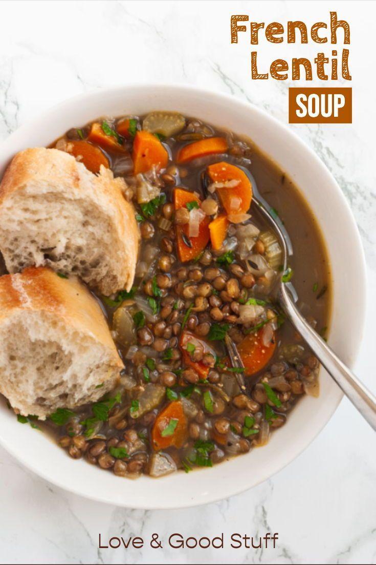 French Lentil Soup Recipe French Lentil Soup French Lentils Lentil Soup