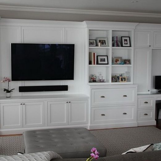 Best Home Renovation Builtins Images On Pinterest Bookcases - Built in cabinets entertainment center design pictures remodel