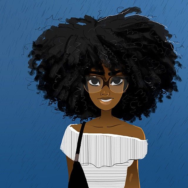 Image result for natural hair cartoon#