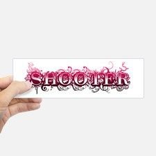 Shooter Fancy Bumper Sticker for