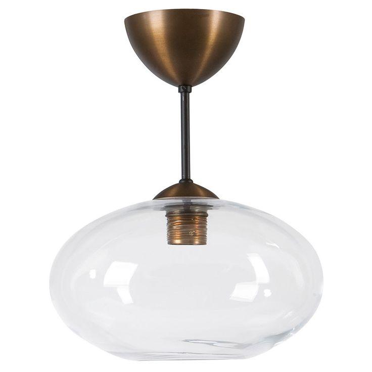 Bullo Nedpendlet Taklampe Klart / Opalt Glass - Baderom - Innebelysning | Designbelysning.no