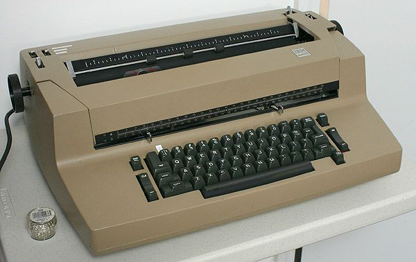 "IBM Correcting Selectric II came out in early 1970's.  My favorite.  Had to thread the carbon typing ribbon and the spool of correction tape across under it's ""hood.""  Best model ever.  Easy, fast.  Better than what you can buy nowadays."