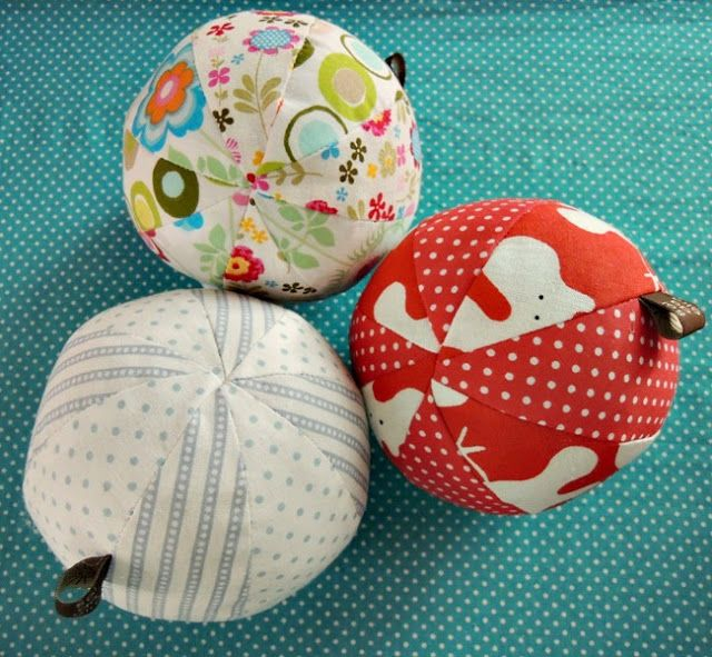 Cute balls with just two fabrics.