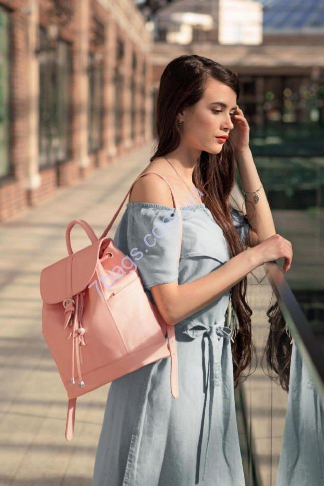 Кожаный женский рюкзак Олсен Барби в розовом цвете  Genuine leather handmade backpack 110USD +shipping. We ship worldwide