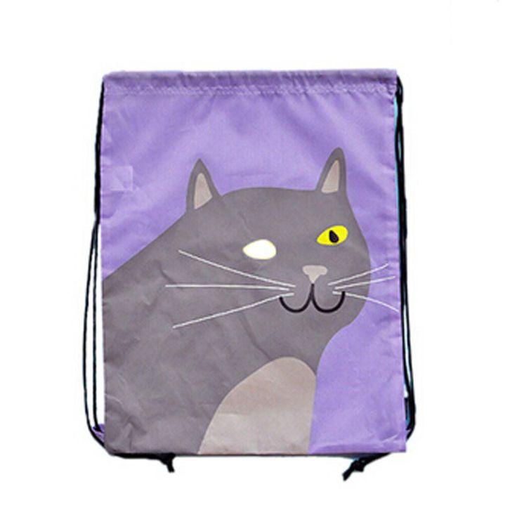 Alipower 2015 горячий новый водонепроницаемый мультфильм / кошка авоську шнурок рюкзак дорожная сумка полиэстер бесплатная доставка и оптовая продажа, принадлежащий категории Сумки для хранения и относящийся к Для дома и сада на сайте AliExpress.com | Alibaba Group
