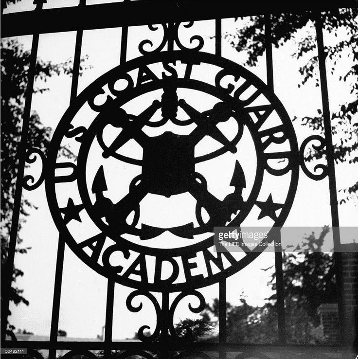 The US Coast Guard Academy gate.