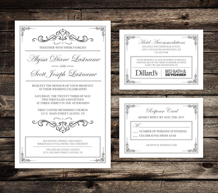 in wedding invitations is the man s name first%0A Take My Wedding Design Files   Whalin u     with Kalen