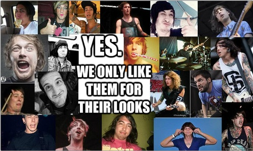 Its All About The Looks, definitely. haaaa. yes thats for sure why we like them. *sarcasm*
