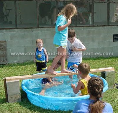 Layla would love this! pirates have to walk the plank over the shark infested pool